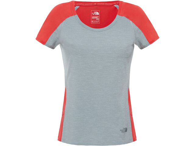 The North Face Dynamix S/S Shirt Dame tnf mdgyhr/mln rd